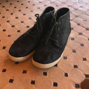 Toms calfskin bootie